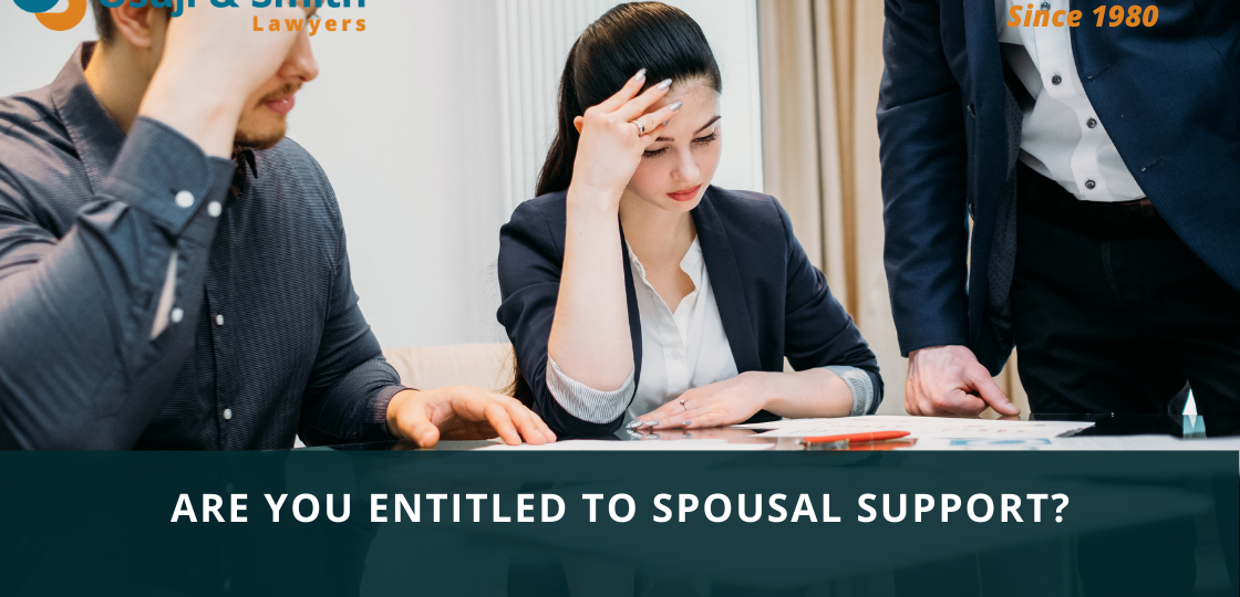 Are You Entitled to Spousal Support