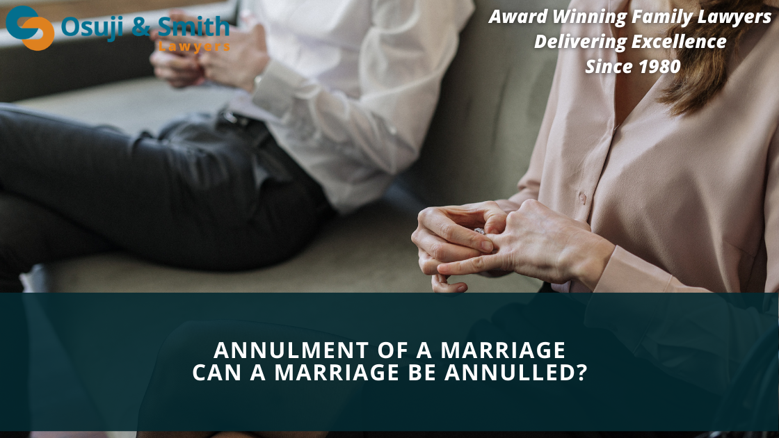Calgary Divorce Lawyers - Annulment of a marriage - CAN A MARRIAGE BE ANNULLED
