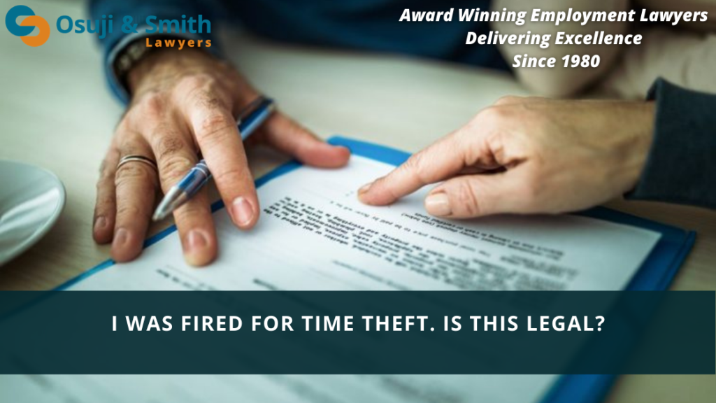 Calgary employment lawyers explain - I was fired for time theft. Is this legal