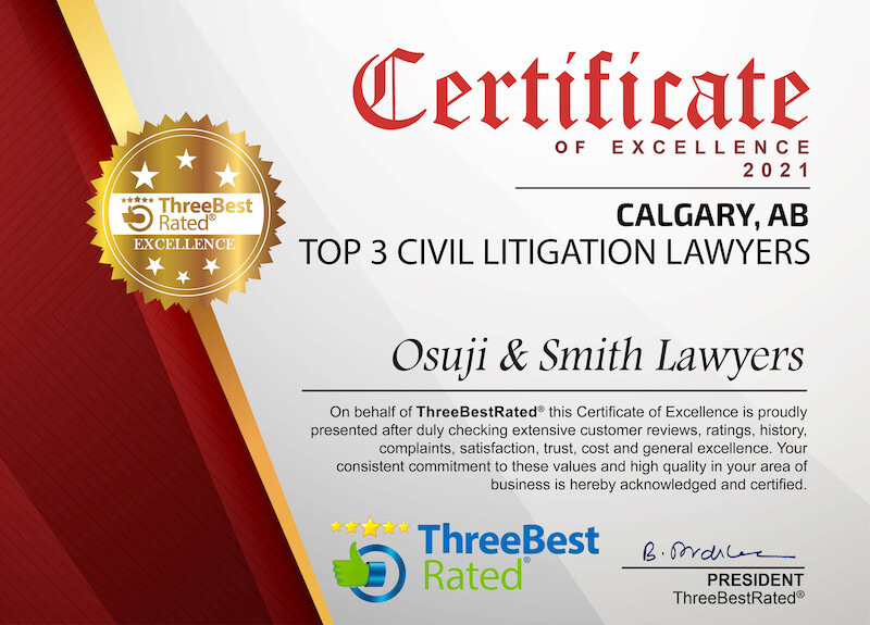 TOP 3 Civil Litigation Lawyers Calgary