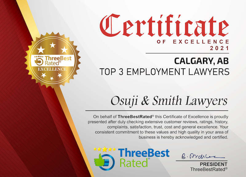TOP 3 Employment Lawyers Calgary
