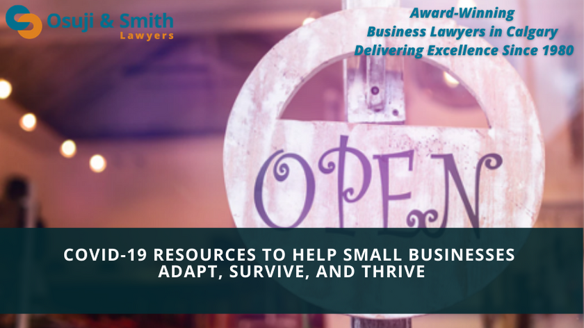 Award-Winning Business Lawyers in Calgary - Calgary COVID-19 Resources to Help Small Businesses Adapt, Survive, and Thrive