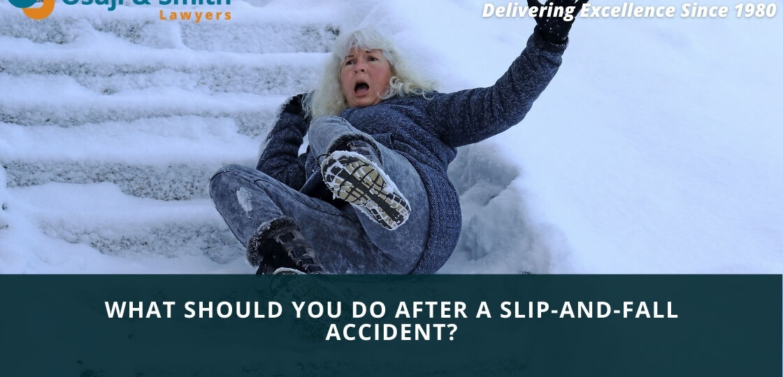 Calgary long winter - What should you do after a slip-and-fall accident in Calgary