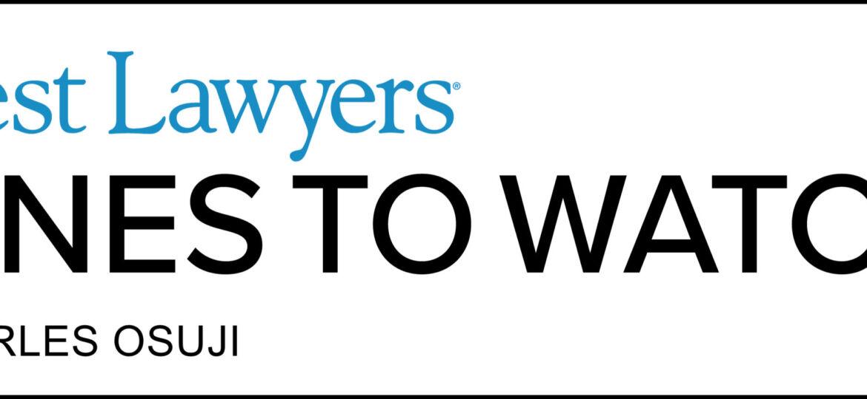 Best Lawyers Ones to Watch - Calgary lawyer Charles Osuji