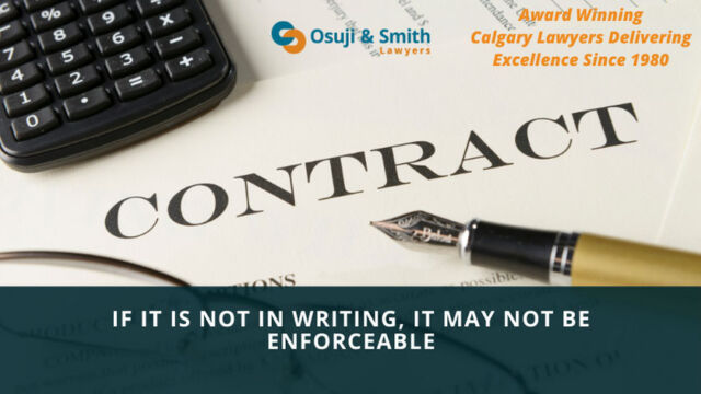 Contracts, Calgary lawyers contracts, Guarantees and indemnities, Express trust of real property, Contracts made in consideration of marriage, Lease agreements