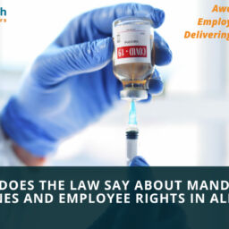 What does the law say about mandatory vaccines and employee rights in Alberta?
